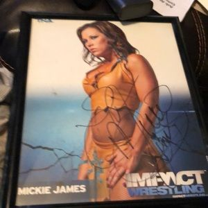 WWE Other - Autograph picture of mickie James